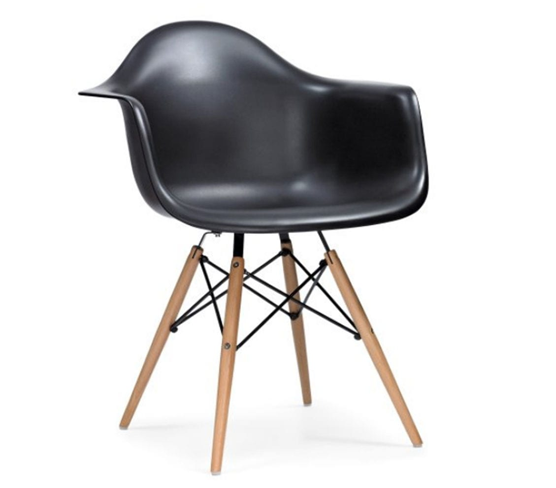 black charles and ray eames style daw armchair light glory. Black Bedroom Furniture Sets. Home Design Ideas