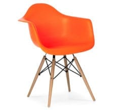 charles and ray eames style daw armchair in orange