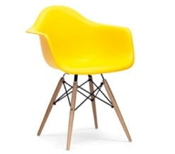 charles and ray eames style daw armchair in yellow