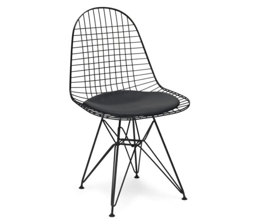 Charles And Ray Eames Style DKR Wire Chair Light Glory