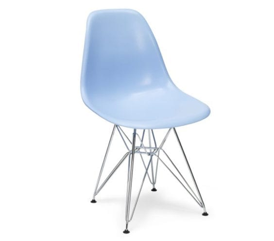 charles and ray eames style dsr chair in blue