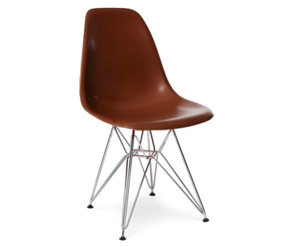 charles and ray eames style dsr chair in coffee brown