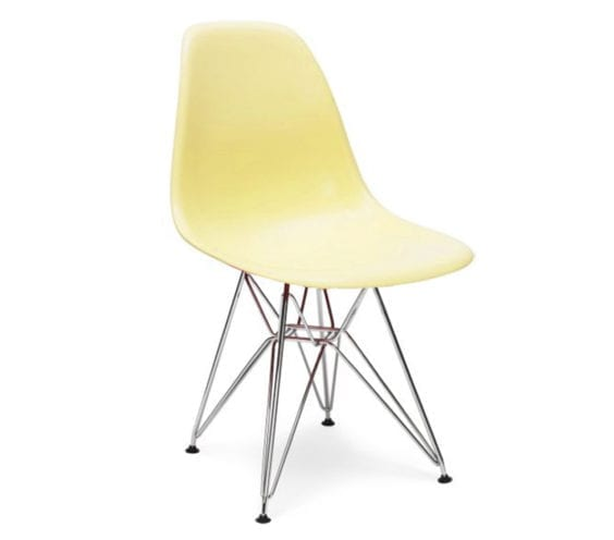 charles and ray eames style dsr chair in cream