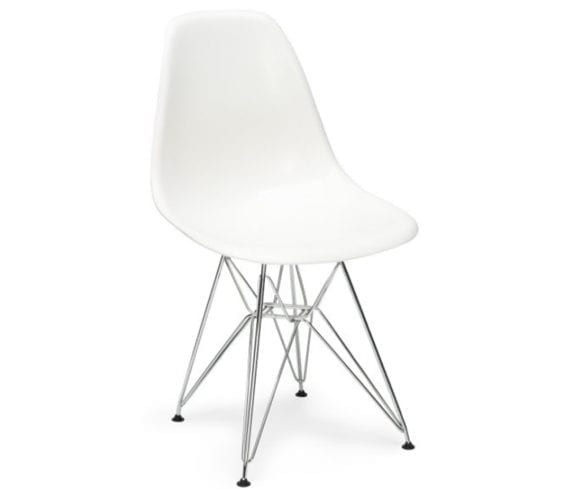charles and ray eames style dsr chair in white