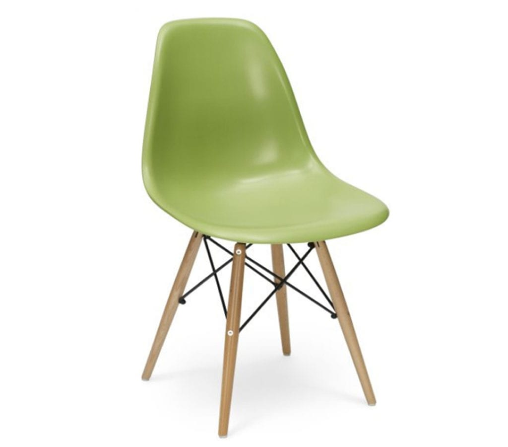 green eames dsw chairs light glory