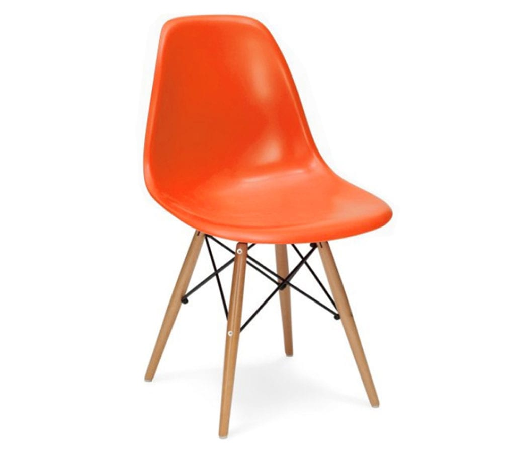 orange eames dsw chairs light glory. Black Bedroom Furniture Sets. Home Design Ideas
