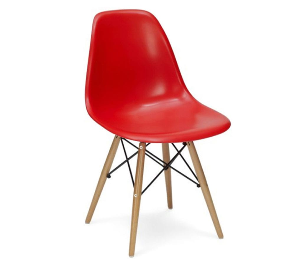 red eames dsw chairs light glory. Black Bedroom Furniture Sets. Home Design Ideas