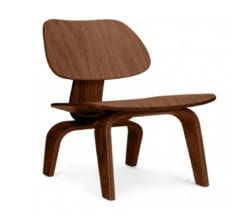 charles and ray eames style lcw plywood chair in walnut