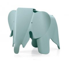 childrens charles and ray eames style elephant stool in blue