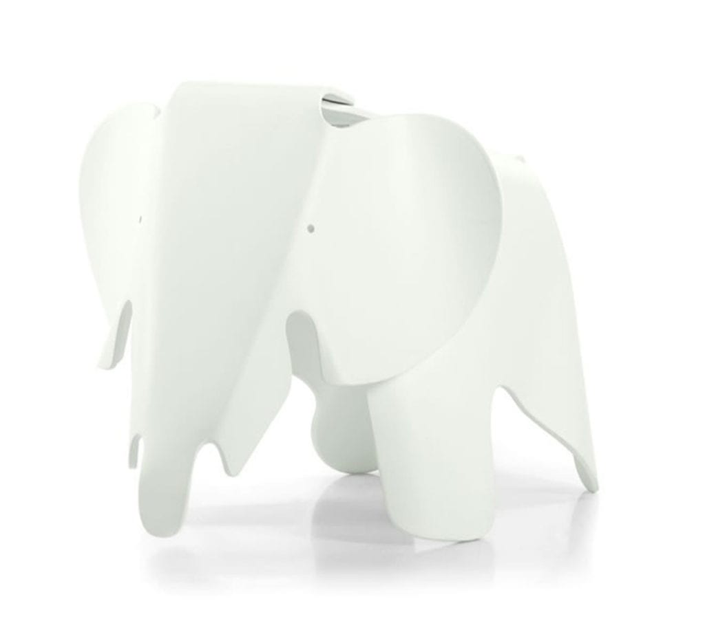 white childrens charles and ray eames style elephant stool light glory. Black Bedroom Furniture Sets. Home Design Ideas