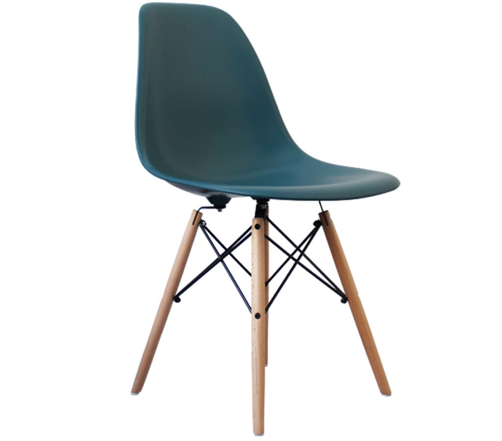 Peachy Teal Charles And Ray Eames Style Dsw Chair Gmtry Best Dining Table And Chair Ideas Images Gmtryco