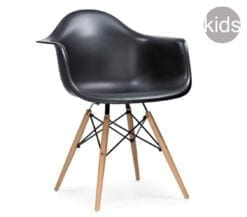 childrens charles and ray eames style daw armchair in black