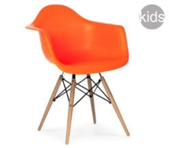 childrens charles and ray eames style daw armchair in orange