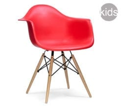 childrens charles and ray eames style daw armchair in red