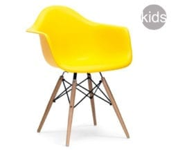 childrens charles and ray eames style daw armchair in yellow