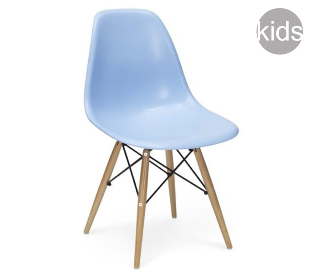 Childrens blue charles and ray eames style dsw chair for Rocking chair dsw