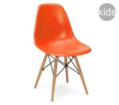 childrens charles and ray eames style dsw chair in orange