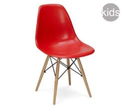childrens charles and ray eames style dsw chair in red