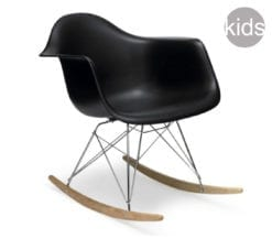 childrens charles and ray eames style rar rocking armchair in black
