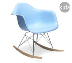 childrens charles and ray eames style rar rocking armchair in blue