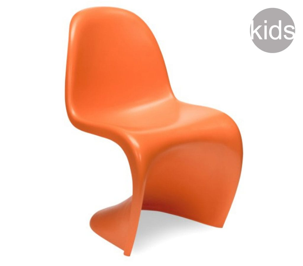 Brilliant Orange Childrens Verner Panton Style Dining S Chair Gmtry Best Dining Table And Chair Ideas Images Gmtryco