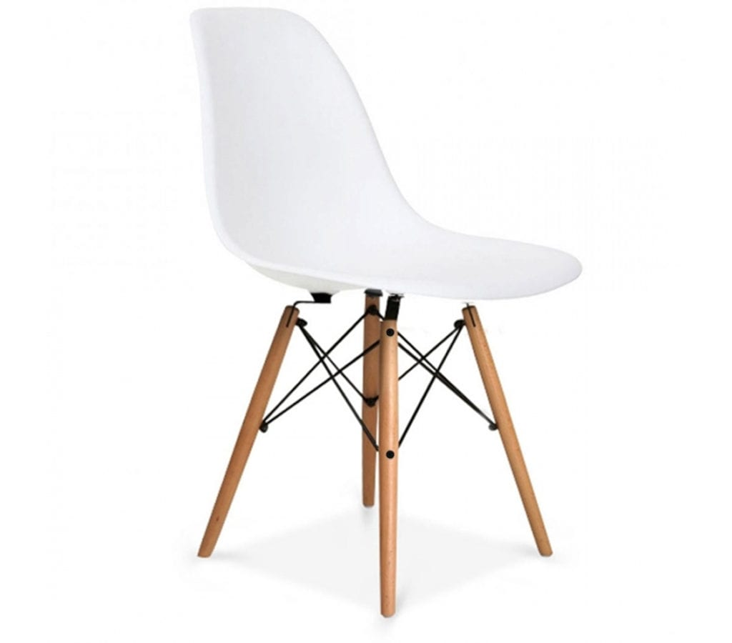 White eames dsw chairs light glory for Rocking chair dsw