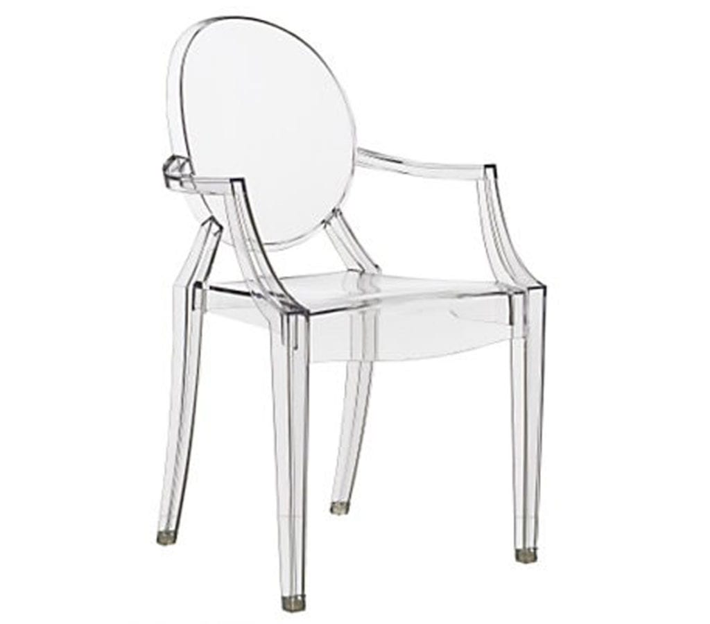 Philippe starck style ghost louis armchair light glory - Chaise starck louis ghost ...