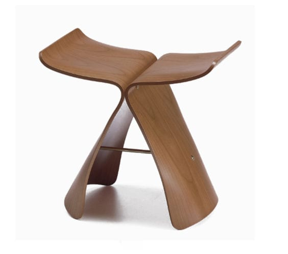 sori yanagi style butterfly stool in natural plywood