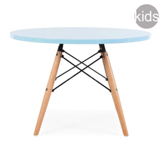 childrens charles and ray eames style dsw round table in blue