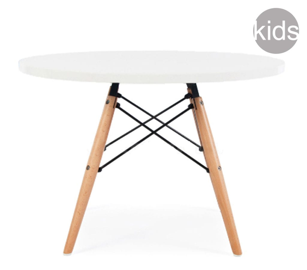 Awe Inspiring White Childrens Charles And Ray Eames Style Dsw Round Table Cjindustries Chair Design For Home Cjindustriesco