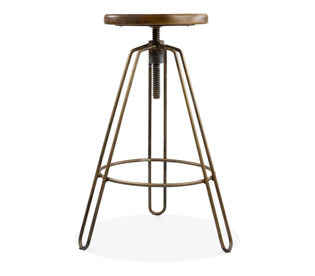 Awesome Odense Metal Swivel Bar Stool With Adjustable Back Front Machost Co Dining Chair Design Ideas Machostcouk