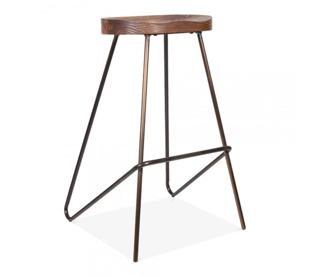 Arendal Vintage Metal Angle Leg Stool 75cm Light Amp Glory