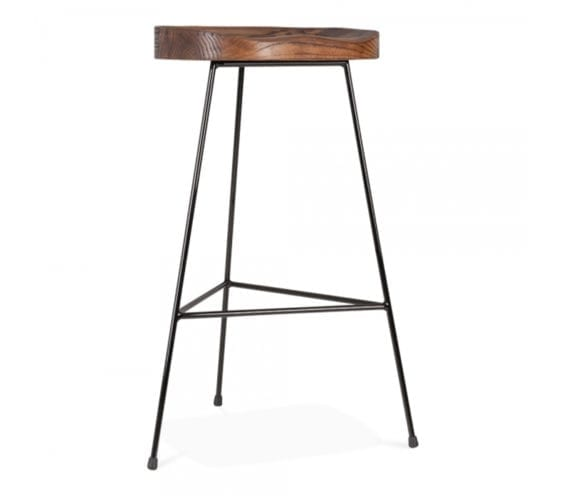 with swivel w amisco bar stool shipping s seat metal backless connor finish free wood product