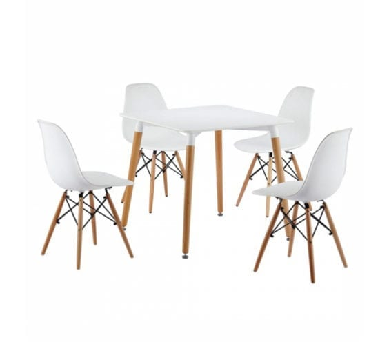 horten-80cm-square-white-table-top-with-beech-wood-legs-eames-style-chairs
