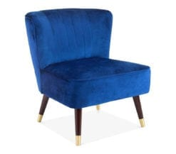 luna-upholstered-art-deco-statement-chair-in-navy-velvet-front-angle