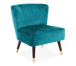 luna-upholstered-art-deco-statement-chair-in-teal-velvet-front-angle