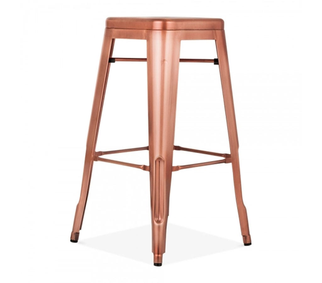 Tarnby Tolix Inspired Metal Stool In Copper 75cm Light  : tarnby tolix inspired metal stool in copper 75cm side angle 2 from www.lightandglory.co.uk size 1129 x 992 jpeg 79kB
