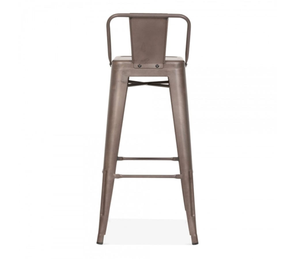 Stupendous Tromo Tolix Inspired Vintage Metal Stool With Low Back 75Cm Caraccident5 Cool Chair Designs And Ideas Caraccident5Info