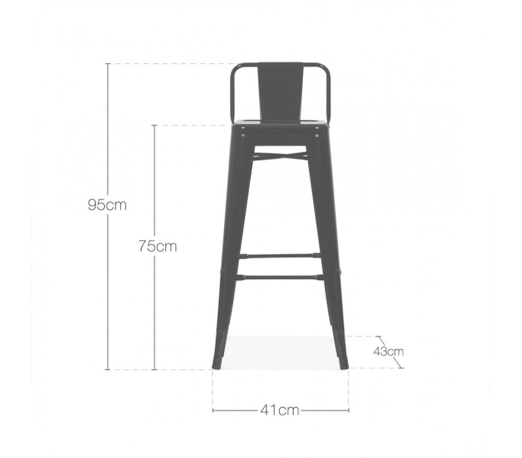 Groovy Tromo Tolix Inspired Vintage Metal Stool With Low Back 75Cm Gmtry Best Dining Table And Chair Ideas Images Gmtryco